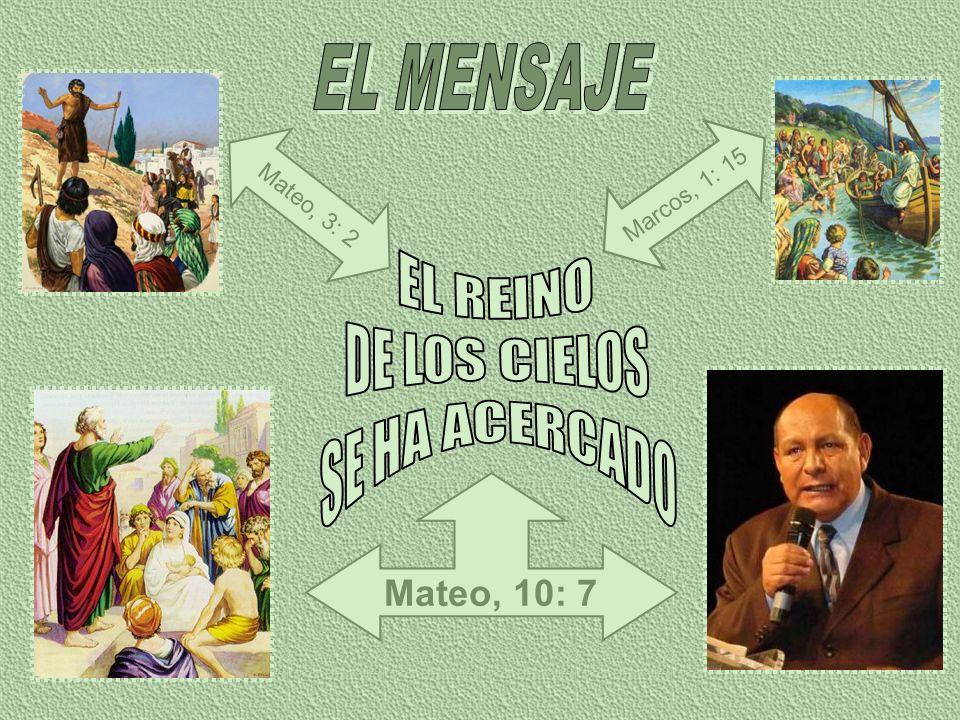EL MENSAJE EL REINO DE LOS CIELOS SE HA ACERCADO Mateo, 10: 7