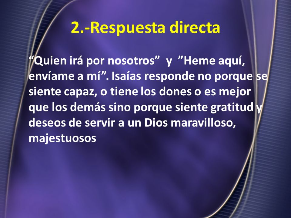 2.-Respuesta directa