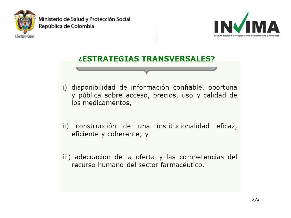¿ESTRATEGIAS TRANSVERSALES