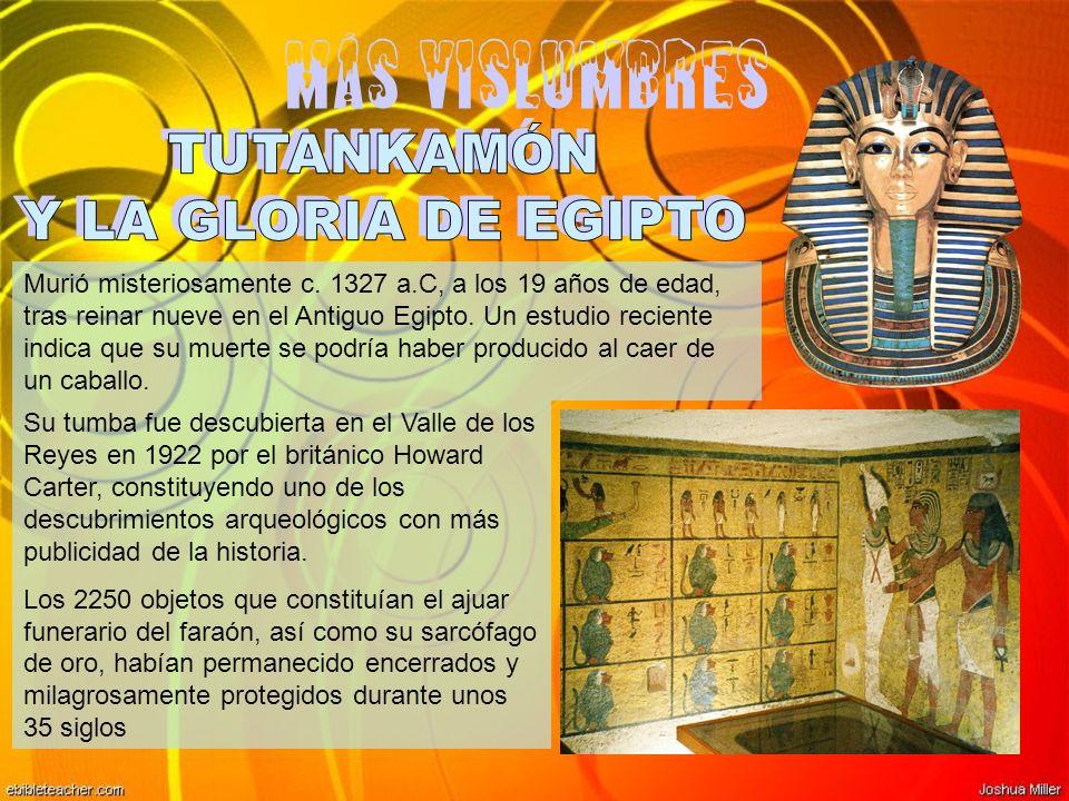 Más vislumbres TUTANKAMÓN Y LA GLORIA DE EGIPTO