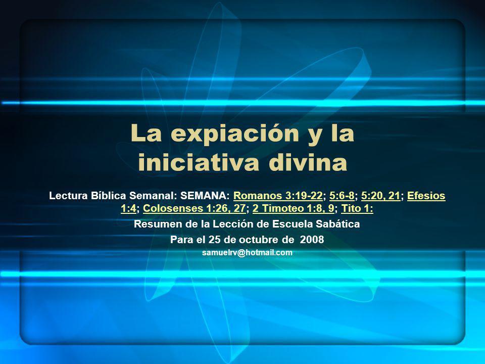 La expiación y la iniciativa divina