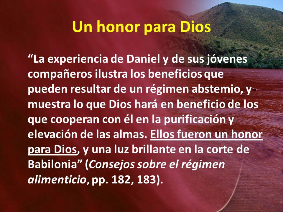 Un honor para Dios