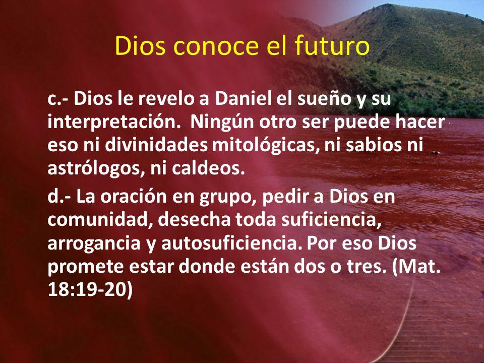 Dios conoce el futuro