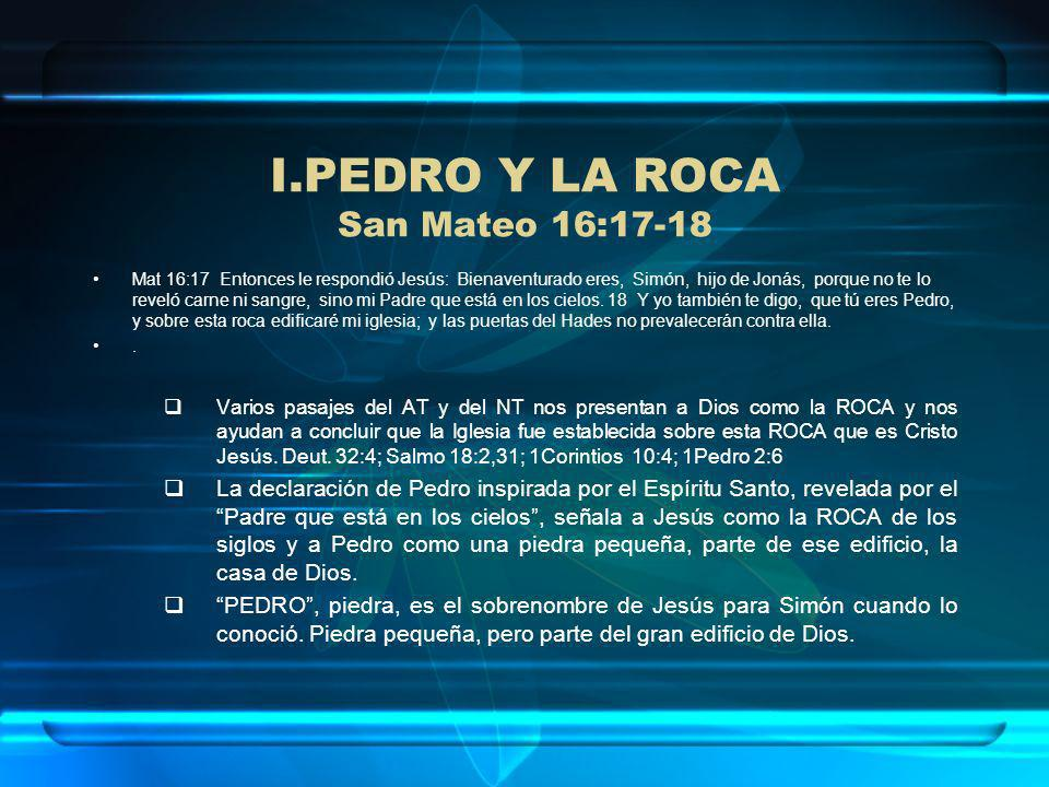 PEDRO Y LA ROCA San Mateo 16:17-18