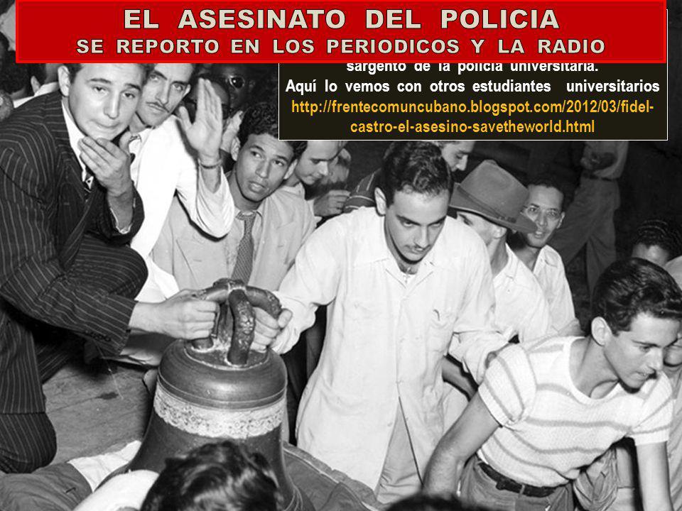 EL ASESINATO DEL POLICIA SE REPORTO EN LOS PERIODICOS Y LA RADIO