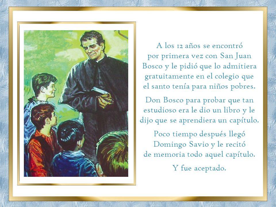 el santo tenía para niños pobres.