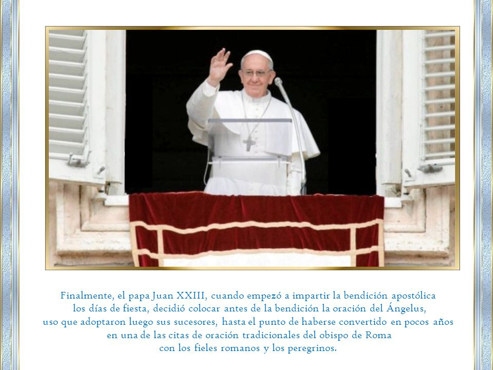 en una de las citas de oración tradicionales del obispo de Roma