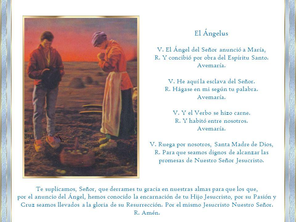 El Ángelus V. El Ángel del Señor anunció a María,