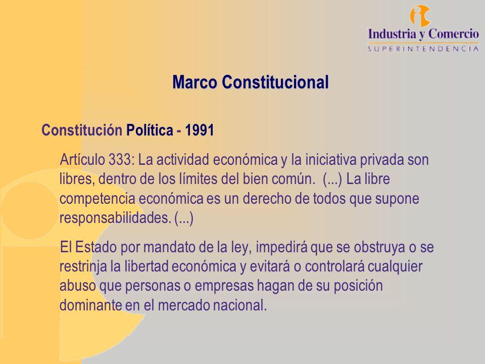 Marco Constitucional Constitución Política - 1991