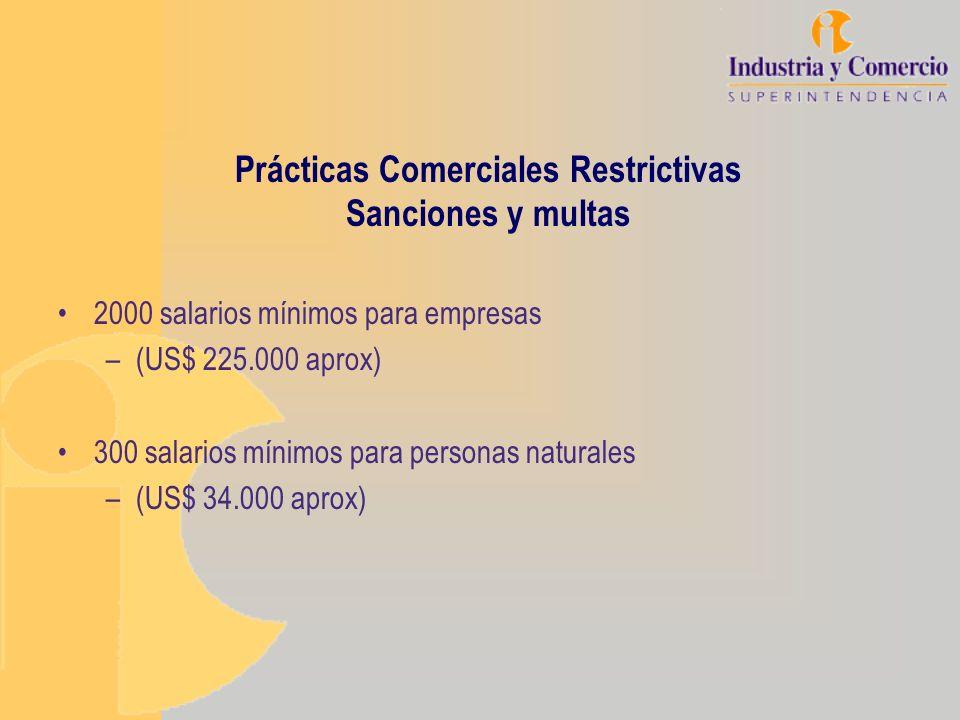 Prácticas Comerciales Restrictivas Sanciones y multas