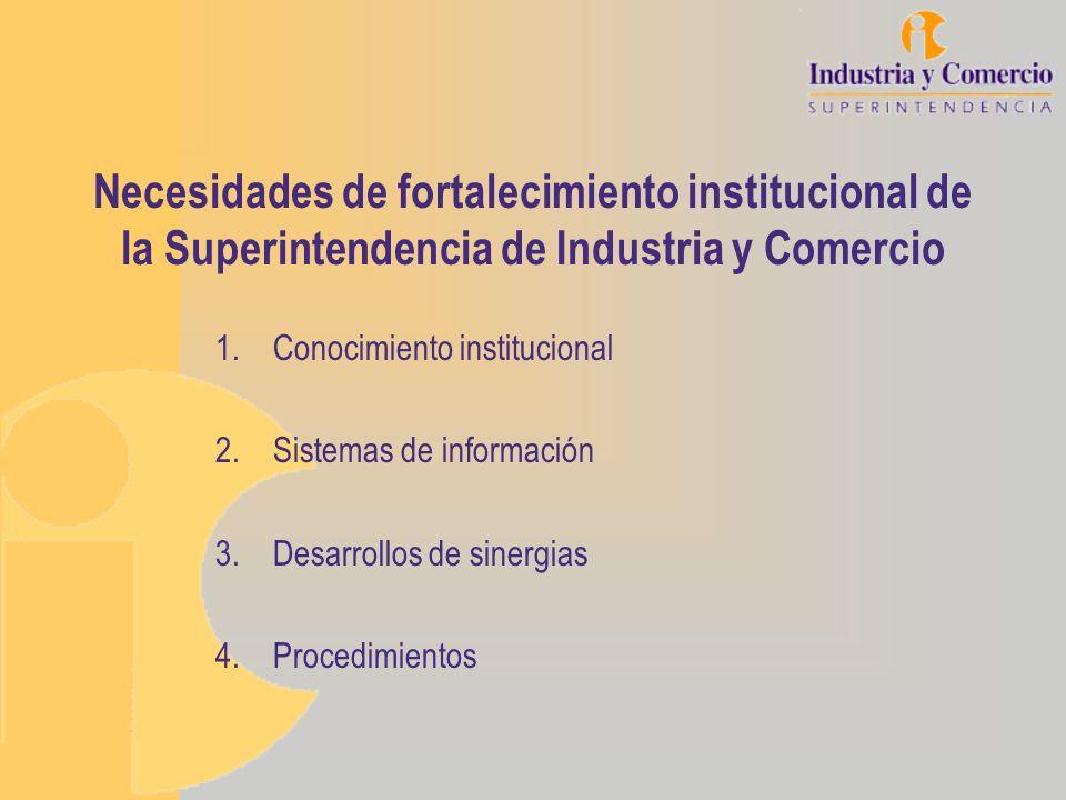 Necesidades de fortalecimiento institucional de la Superintendencia de Industria y Comercio