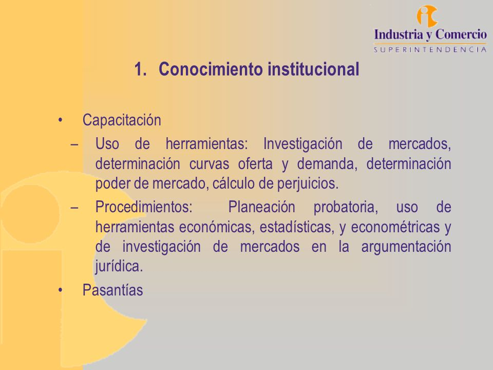Conocimiento institucional