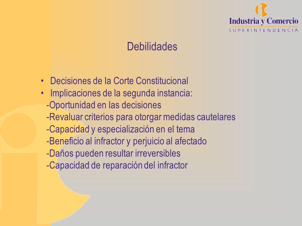 Debilidades Decisiones de la Corte Constitucional