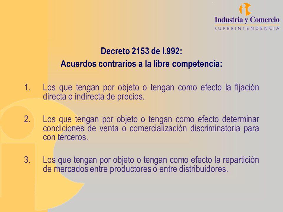 Acuerdos contrarios a la libre competencia: