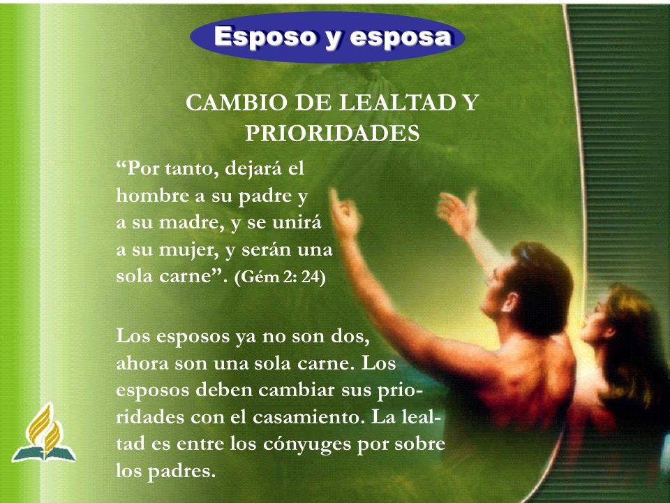 CAMBIO DE LEALTAD Y PRIORIDADES