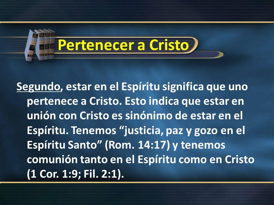 Pertenecer a Cristo