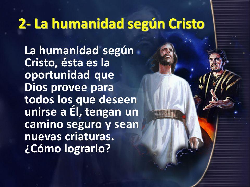 2- La humanidad según Cristo