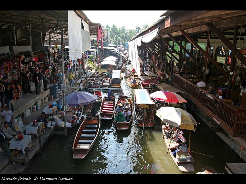 Mercado flotante de Damnoen Saduak.