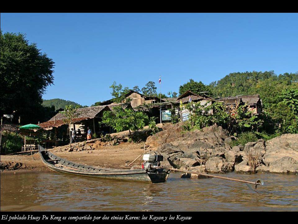 El poblado Huay Pu Keng es compartido por dos etnias Karen: los Kayan y los Kayaw