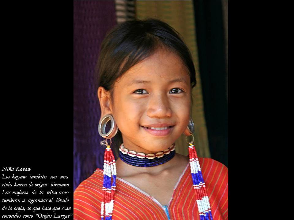 Niña Kayaw Los kayaw también son una. etnia karen de origen birmano. Las mujeres de la tribu acos-