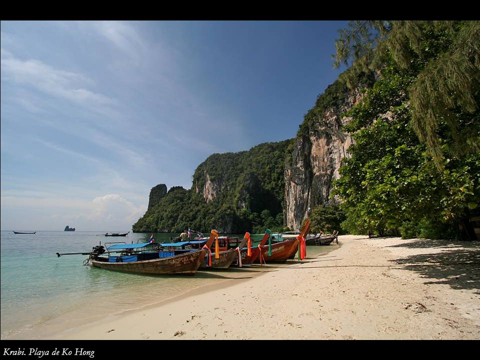 Krabi. Playa de Ko Hong