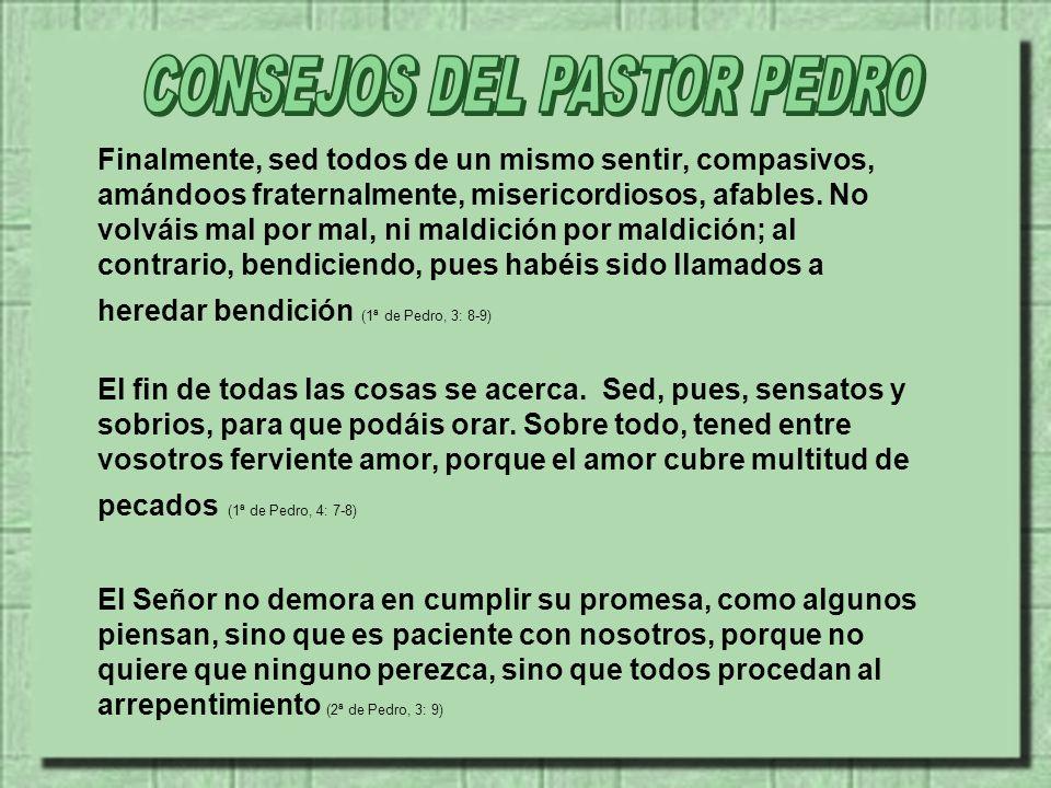 CONSEJOS DEL PASTOR PEDRO