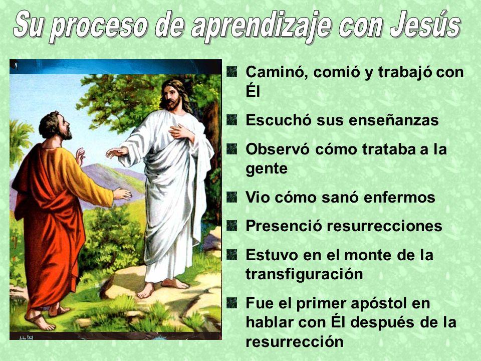 Su proceso de aprendizaje con Jesús