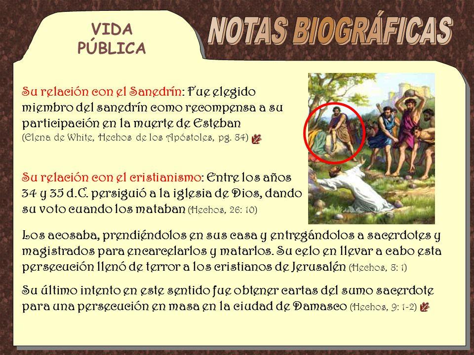 NOTAS BIOGRÁFICAS VIDA PÚBLICA