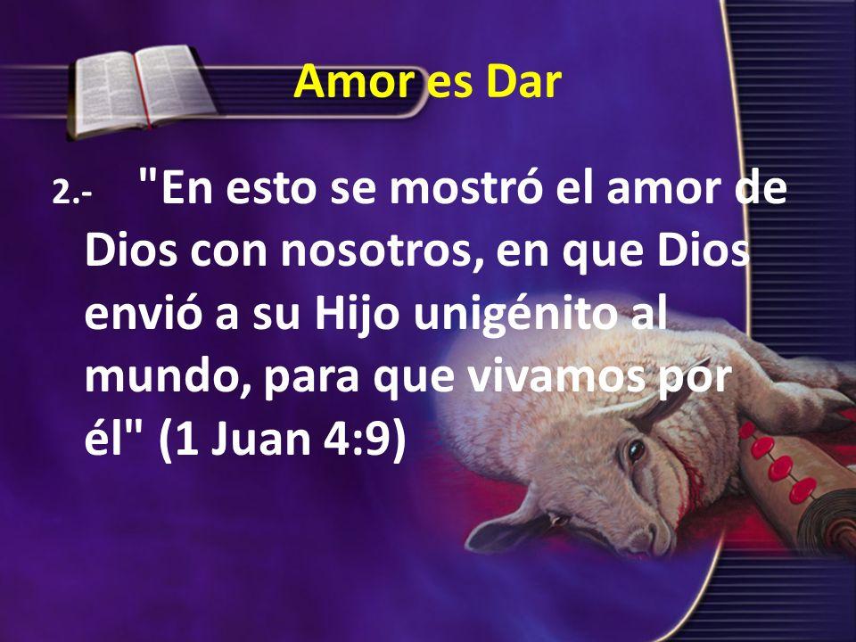 Amor es Dar