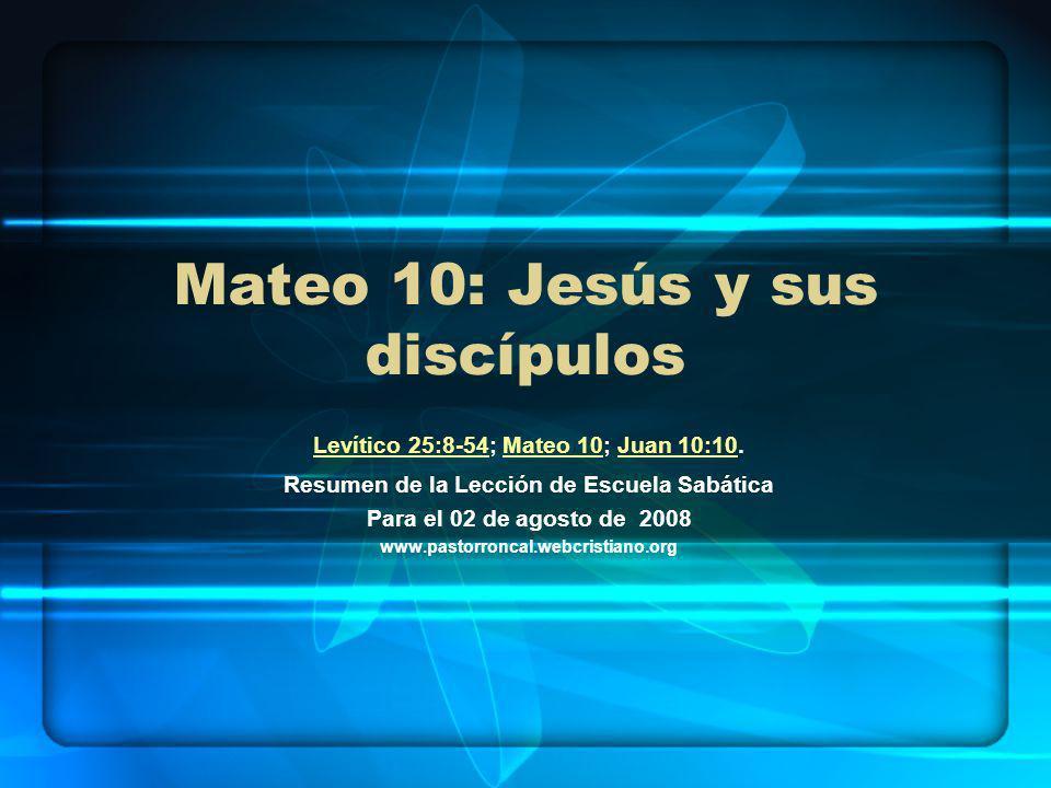 Mateo 10: Jesús y sus discípulos