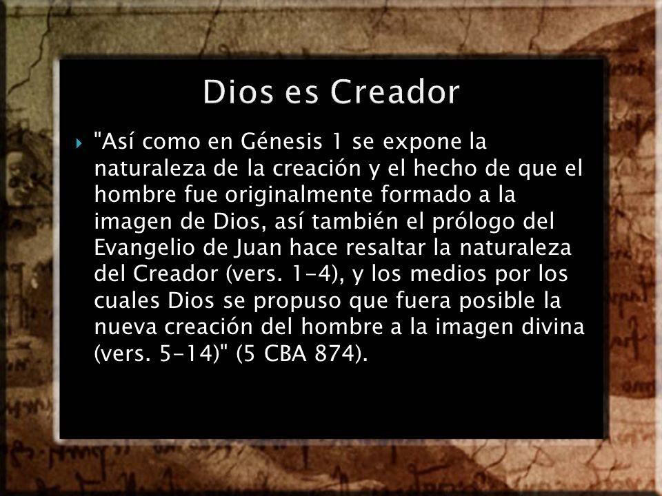 Dios es Creador