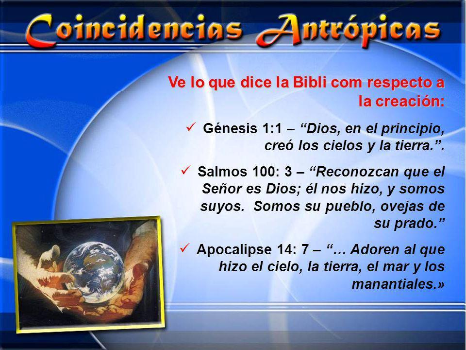 Ve lo que dice la Bibli com respecto a la creación: