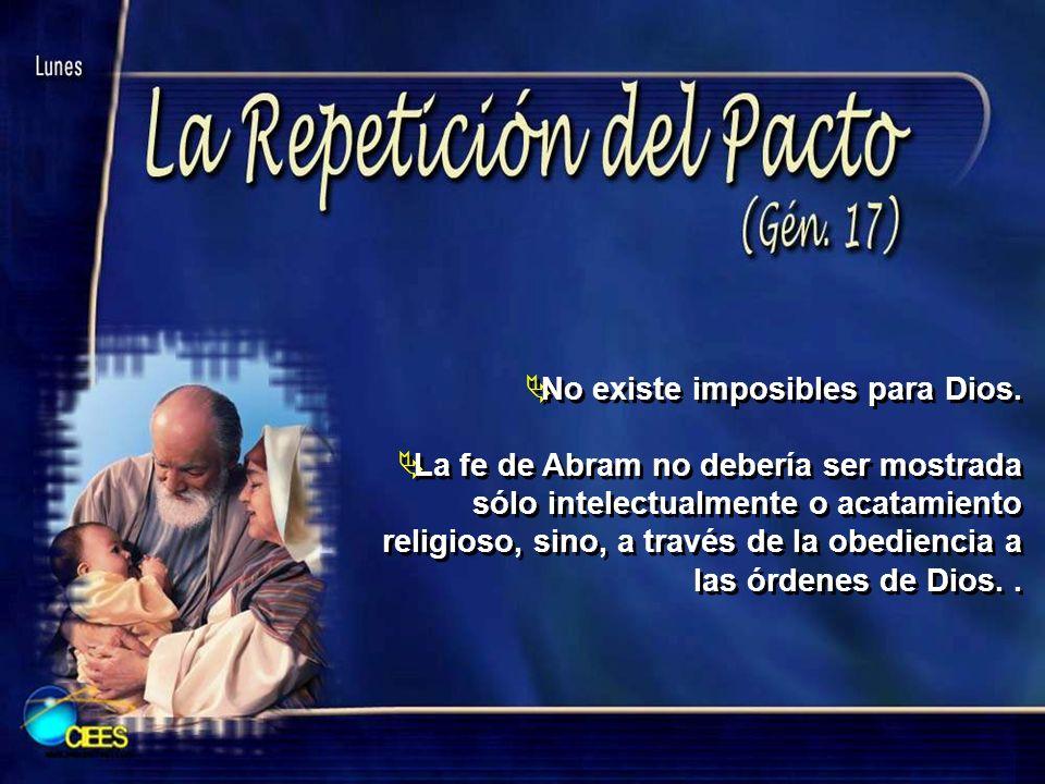 No existe imposibles para Dios.