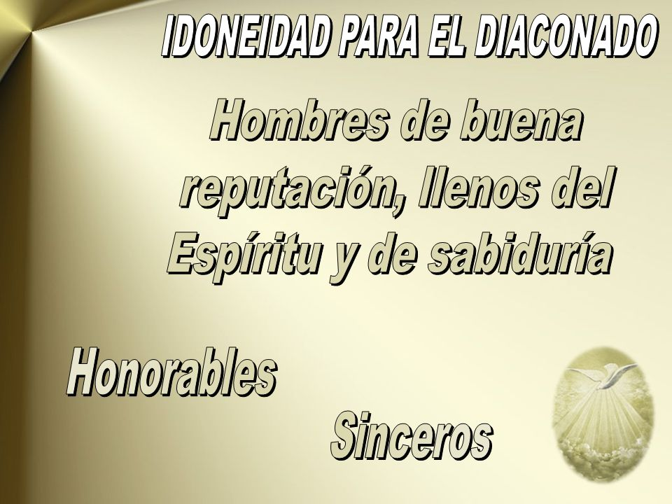 IDONEIDAD PARA EL DIACONADO