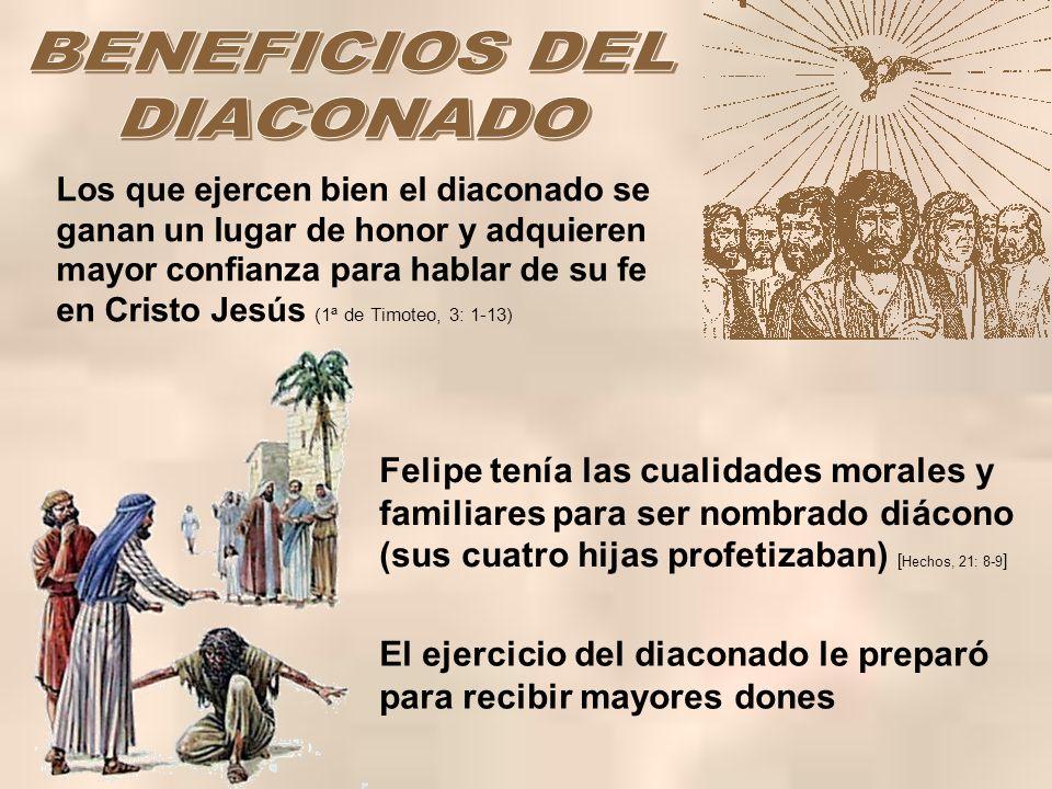 BENEFICIOS DEL DIACONADO