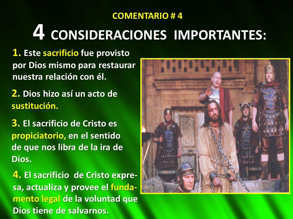 4 CONSIDERACIONES IMPORTANTES: