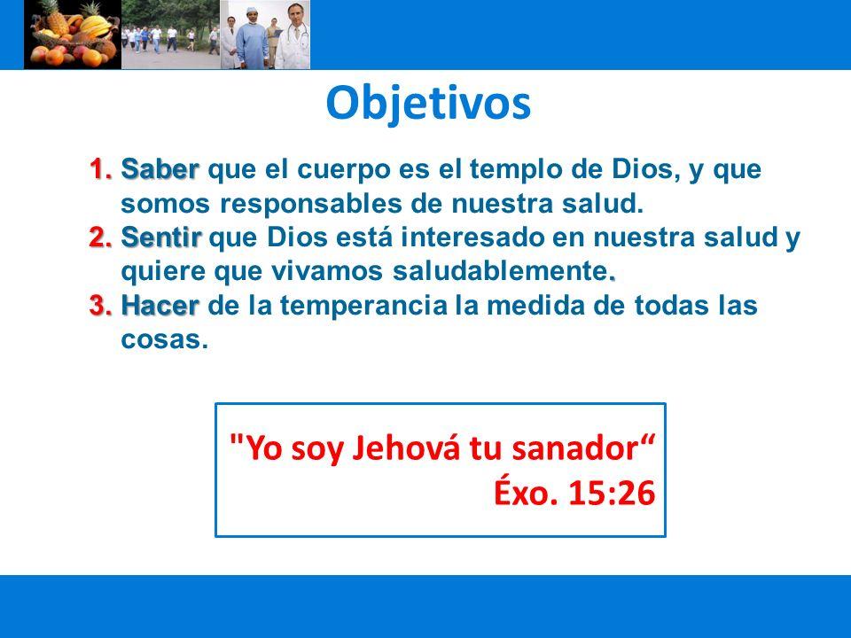Objetivos Yo soy Jehová tu sanador Éxo. 15:26