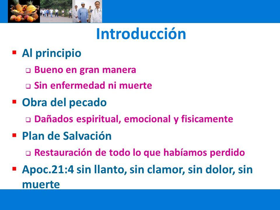 Introducción Al principio Obra del pecado Plan de Salvación