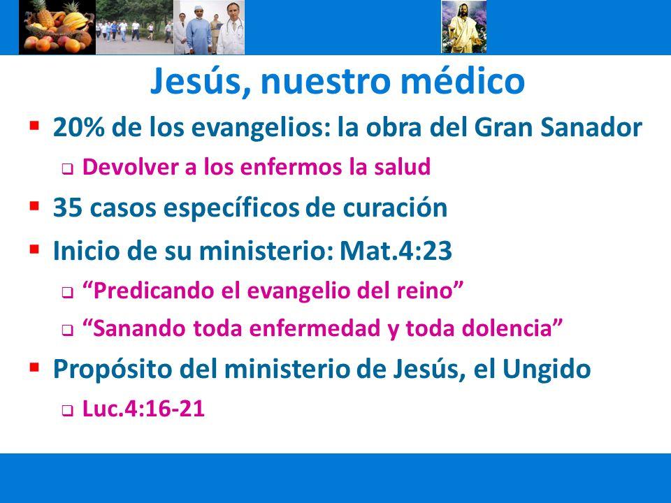 Jesús, nuestro médico 20% de los evangelios: la obra del Gran Sanador