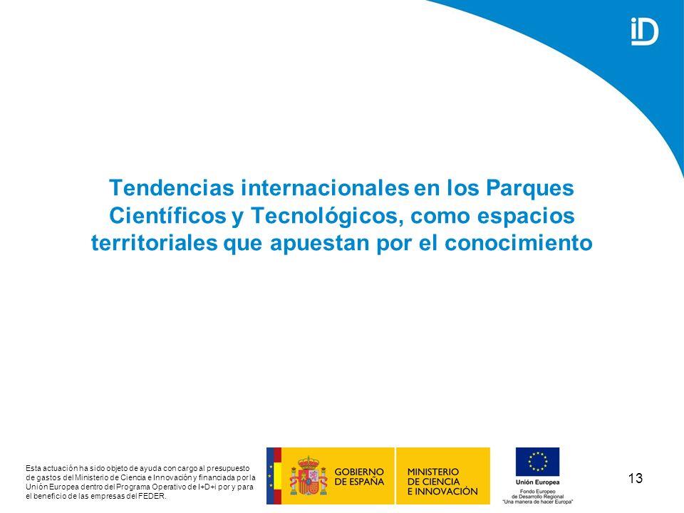Tendencias internacionales en los Parques Científicos y Tecnológicos, como espacios territoriales que apuestan por el conocimiento