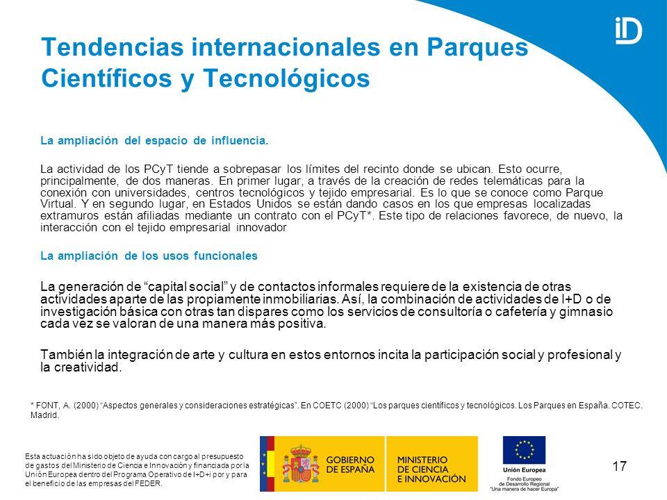Tendencias internacionales en Parques Científicos y Tecnológicos