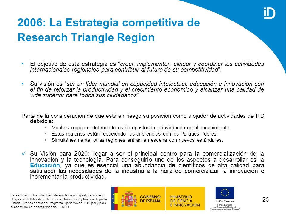 2006: La Estrategia competitiva de Research Triangle Region