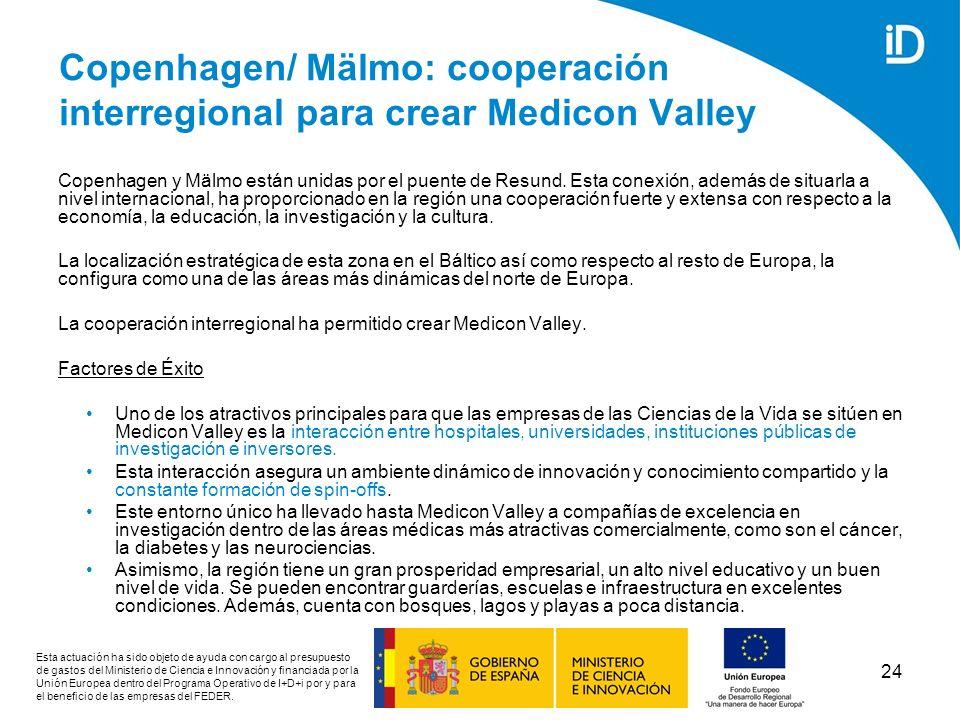 Copenhagen/ Mälmo: cooperación interregional para crear Medicon Valley