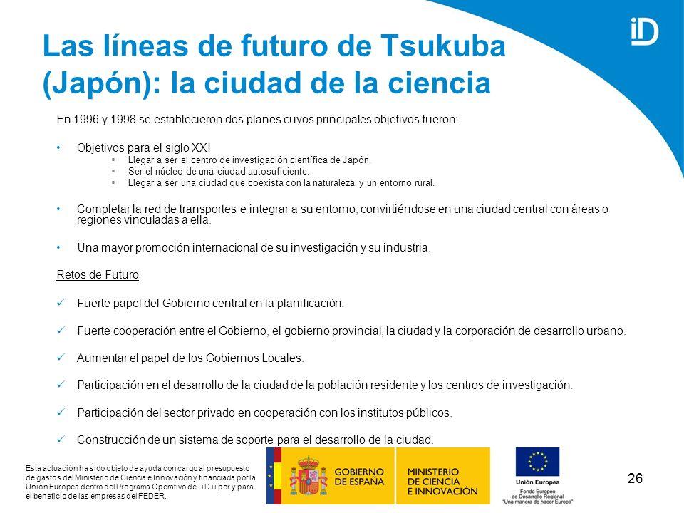 Las líneas de futuro de Tsukuba (Japón): la ciudad de la ciencia