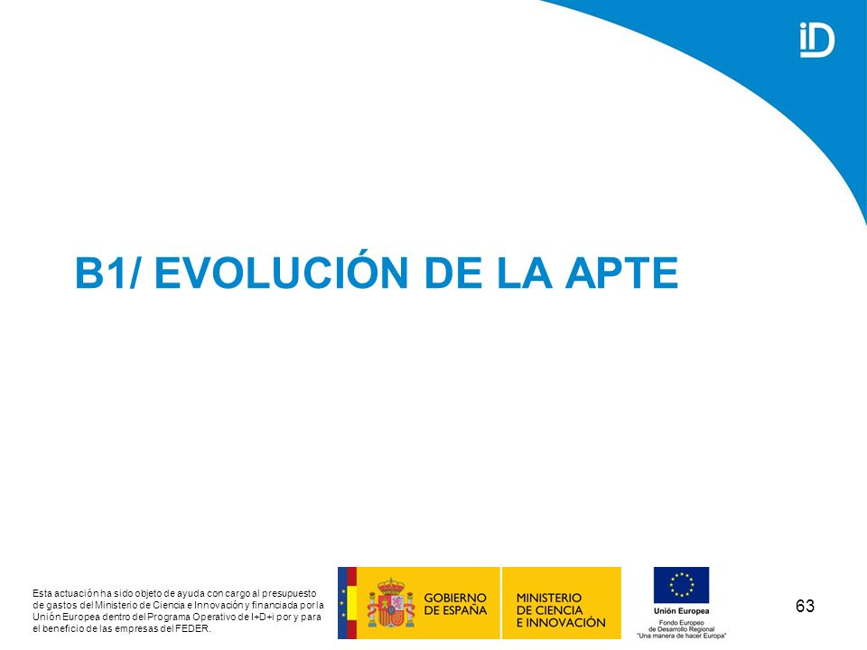 B1/ EVOLUCIÓN DE LA APTE