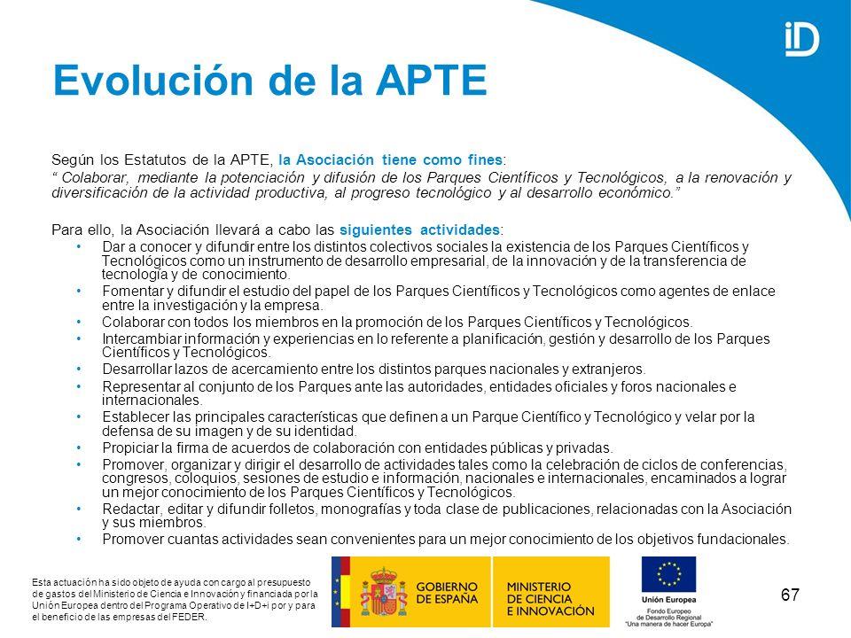 Evolución de la APTESegún los Estatutos de la APTE, la Asociación tiene como fines: