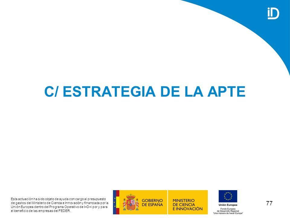 C/ ESTRATEGIA DE LA APTE