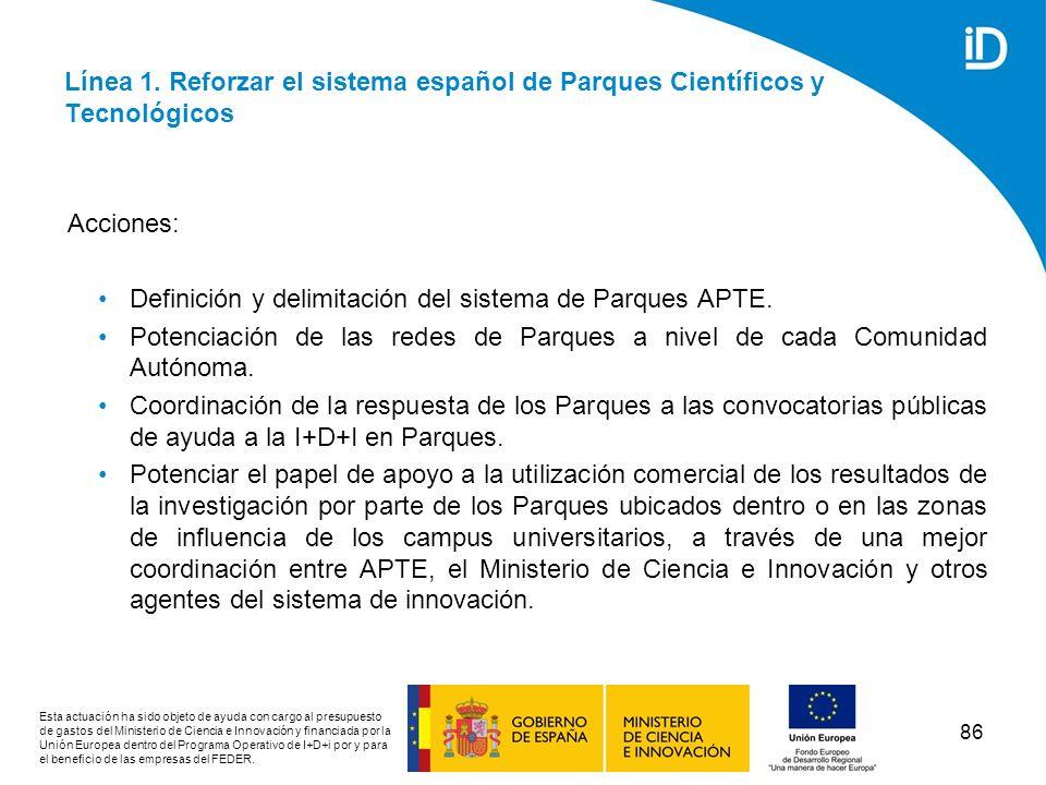 Definición y delimitación del sistema de Parques APTE.