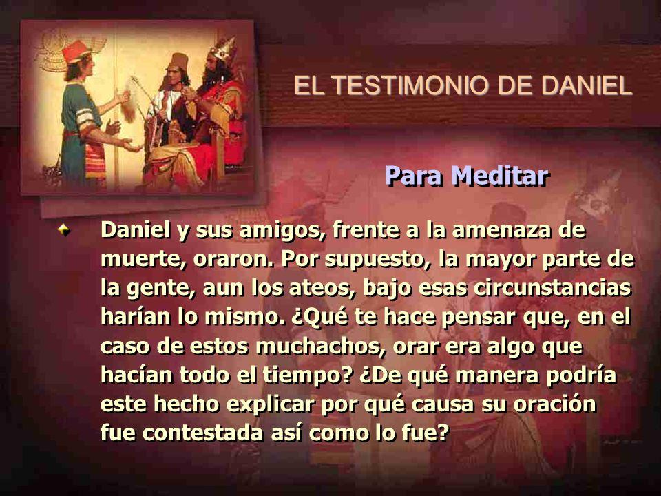 EL TESTIMONIO DE DANIEL