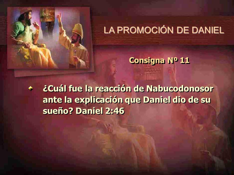 LA PROMOCIÓN DE DANIEL Consigna Nº 11.